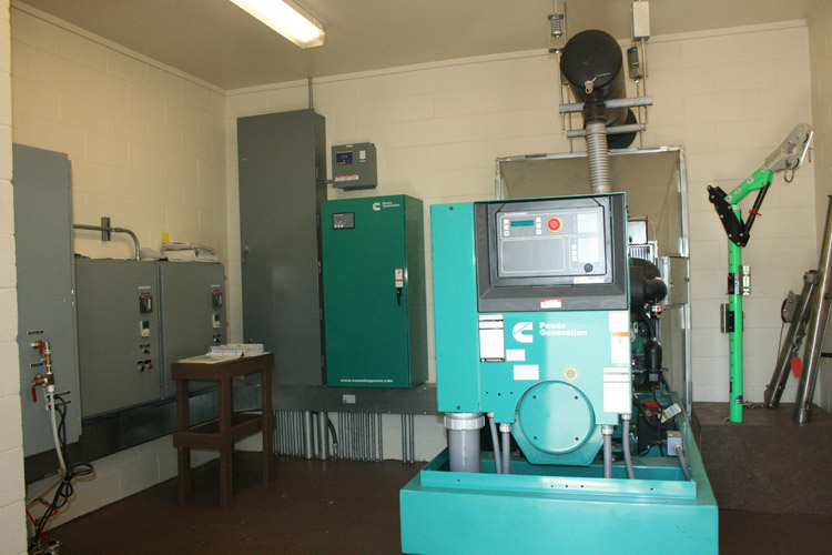 Route 206 Pumping Station: Stand-By Generator/Control Room