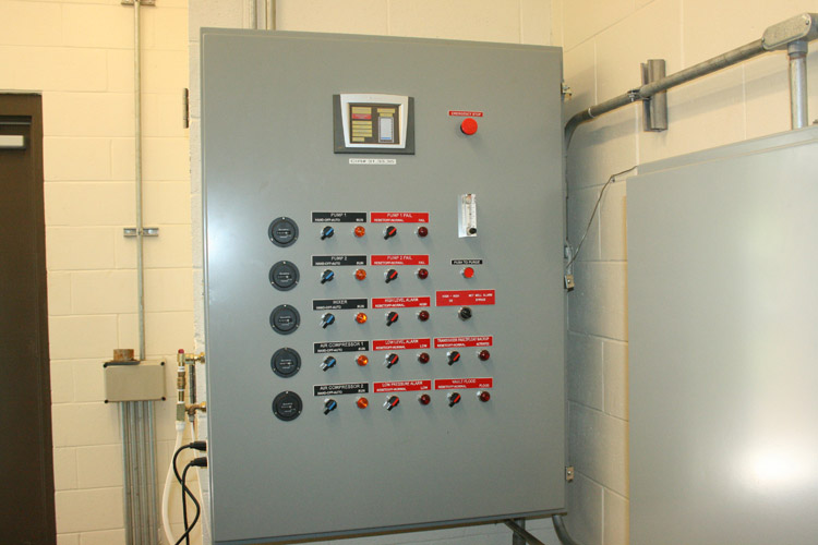 Route 206 Pumping Station: Pump/Motor Control Panel